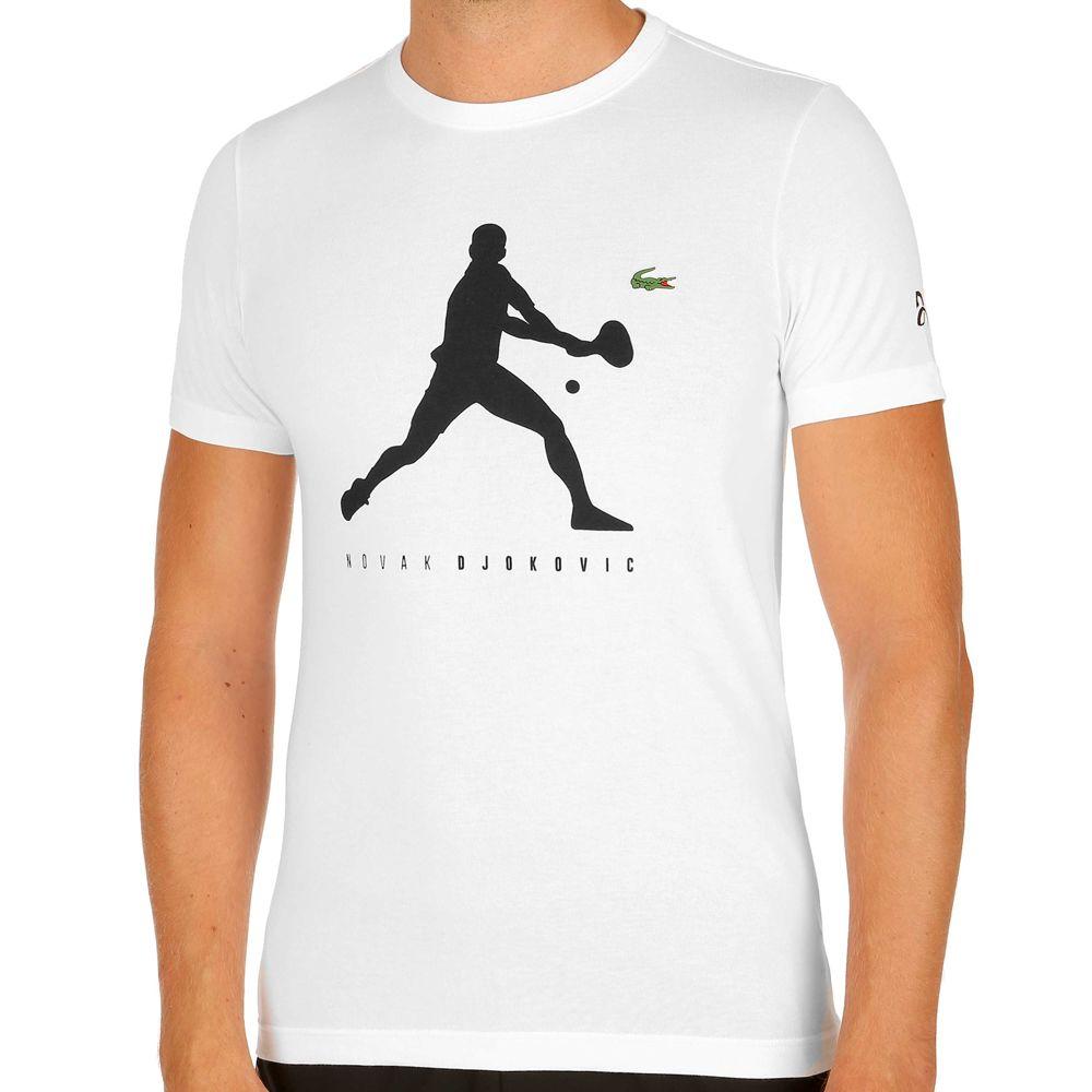 Lacoste Novak Djokovic Férfi Tenisz Póló Fehér Fekete c81a7ac1f5