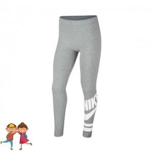 Nike - Sportswear Graphic Tight Lány Sport Jéger Szürke/Fehér