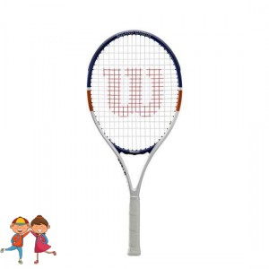Wilson - Roland Garros Elite 26 (2020) Gyerek Teniszütő Fehér/Kék/Barna