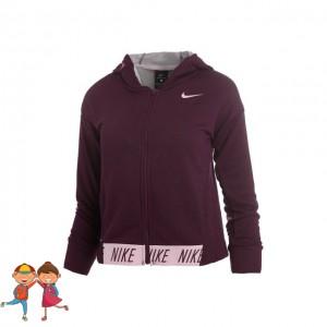 Nike - Dri-Fit Hoody Lány Sport Felső Bordó/Rózsaszín