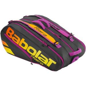 Babolat - Pure Aero Rafa 2021 Tenisz Táska X12 Teniszütőnek Fekete/Sárga/Narancssárga/Lila