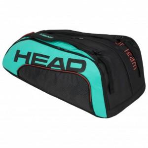 HEAD - Gravity Tour Team 12R Monstercombi Tenisz Táska 12 Teniszütőnek Fekete/Türkizzöld/Korallpiros
