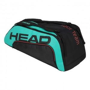 HEAD - Gravity Tour Team 9R Supercombi Tenisz Táska 9 Teniszütőnek Fekete/Türkizzöld/Korallpiros