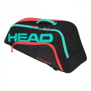 HEAD - Gravity Junior Combi (2019) Gyerek Tenisz Táska Fekete/Türkizzöld/Korallpiros