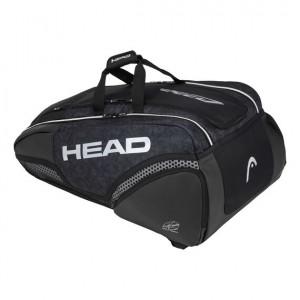 HEAD - Djokovic 12R Monstercombi 2020 Tenisz Táska 12 Teniszütőnek Fekete/Fehér/Szürke