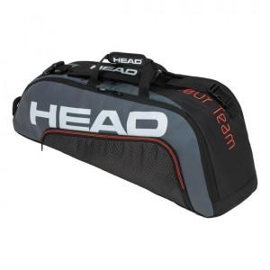 HEAD - Tour Team 2020 6R Combi Tenisz Táska 6 Teniszütőnek Fekete/Szürke/Fehér/Narancssárga