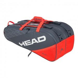HEAD - Elite 9R Supercombi Tenisz Táska 9 Teniszütőnek Szürke/Narancssárga/Fehér