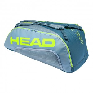 HEAD - Extreme Tour Team 2020 9R Supercombi Tenisz Táska 9 Teniszütőnek Szürke/Világos Szürke/Sárga