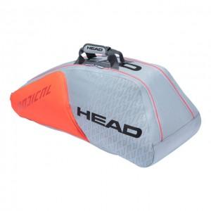 HEAD - Radical Tour Team 2021 9R Supercombi Tenisz Táska 9 Teniszütőnek Szürke/Narancssárga/Fekete