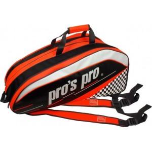 Pros Pro - Tenisztáska 12 Ütőnek Narancssárga/Fekete/Fehér
