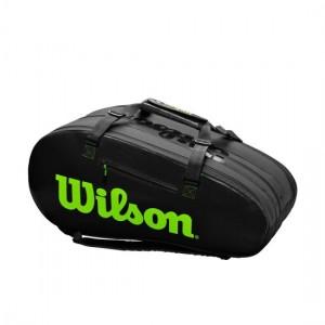 Wilson - Blade Super Tour Tenisz Táska 15 Teniszütőnek Fekete/Zöld