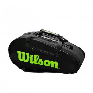 Wilson - Blade Super Tour Tenisz Táska 9 Teniszütőnek Fekete/Zöld