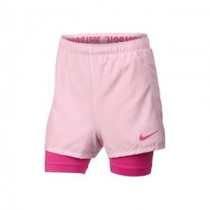 Nike - Dry 2 in1 Short  Lány Tenisz Rövidnadrág Világos Rózsaszín/Fuchsia Rózsaszín