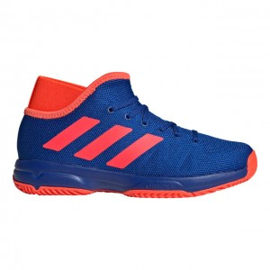 adidas - Phenom Junior All Court Gyerek Unisex Teniszcipő Kék/Neon Piros