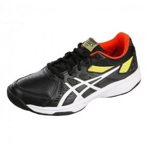 Asics - Court Slide All Court Jr. Unisex Gyerek Teniszcipő Fekete/Fehér/Sárga/Piros