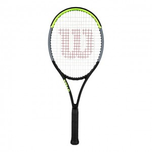 Wilson - Blade 100UL V7.0 Tour Verseny Teniszütő Fekete/Világos Zöld/Ezüstszínű