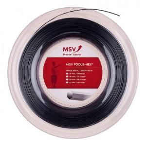 MSV - Focus Hex Teniszhúr 200m Tekercs Fekete