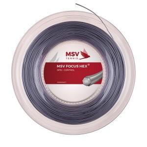 MSV - Focus Hex Teniszhúr 200m Tekercs Ezüstszínű