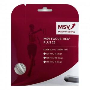 MSV - Focus Hex Plus 25 Teniszhúr 12m Fehér