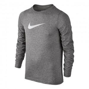 Nike - Dry Long Sleeve Fiú Tenisz Blúz sötét szürke/fehér