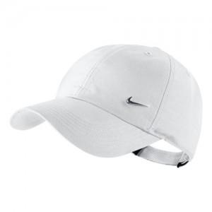 Nike - Heritage 86 Metal Swoosh Junior Napellenző Tenisz Sapka fehér