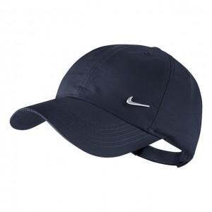 Nike - Heritage 86 Metal Swoosh Junior Gyerek Tenisz Sapka sötétkék/ezüstözött