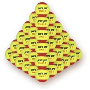 Pro's Pro Stage 3 -  Tenisz Labda Gyerekeknek 60 Db/Csomag sárga/piros