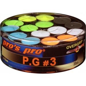 Pro's Pro P.G 3 - Overgrip Perforált 30 Db/Doboz Multikolor