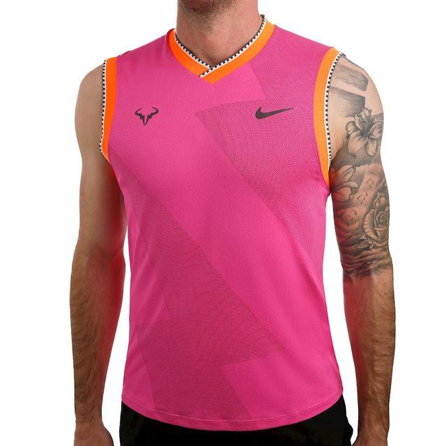 1fa6a8ebcc Nike - Rafael Nadal Court Aeroreact Tank Férfi Tenisz Ujjatlan  Rózsaszín/Narancssárga/Fekete